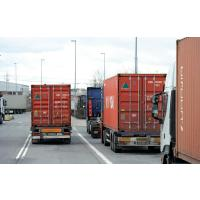0520_0266 Containertransport Strasse mit LKW: Lastkraftwagen. |